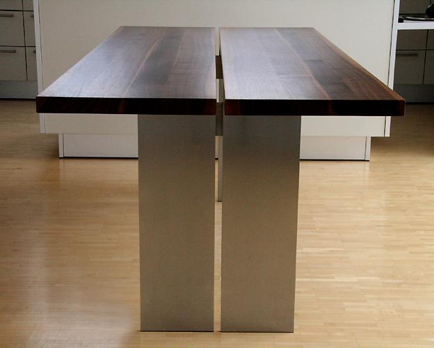 Stahltische-Holzplatte
