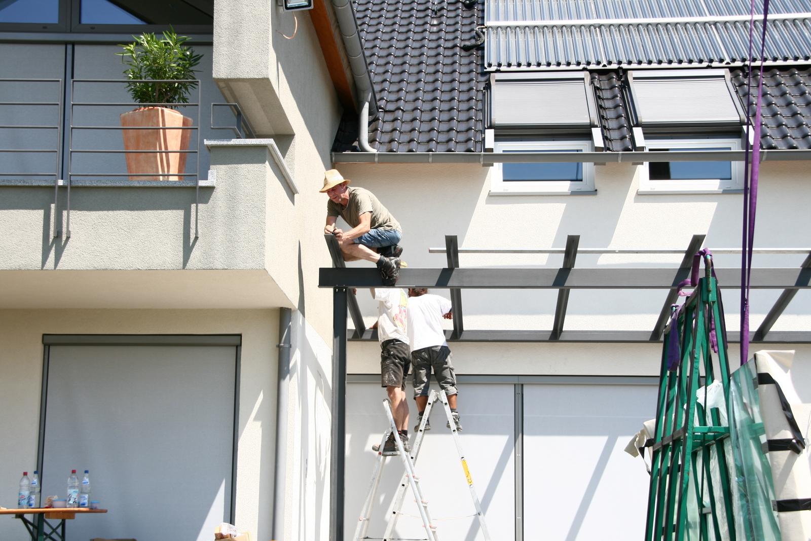 Terrassendach-montage