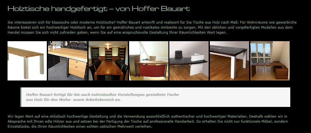 Holztische, Bürotische, Luxus Tische aus  Mundelsheim