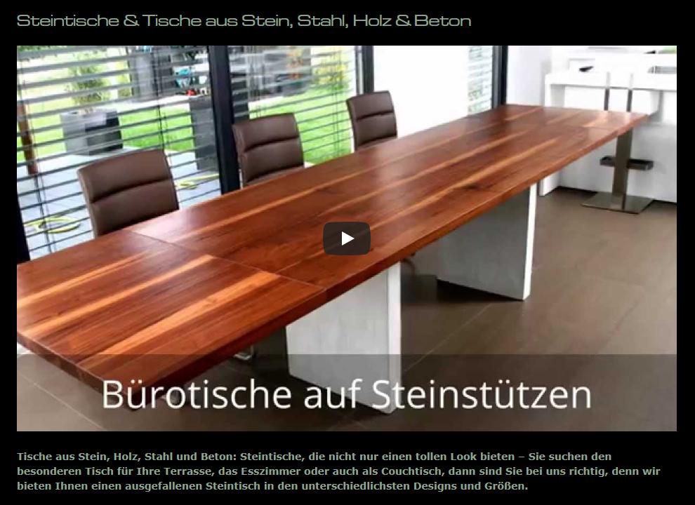 Steintische, Steinmöbel aus  Mundelsheim